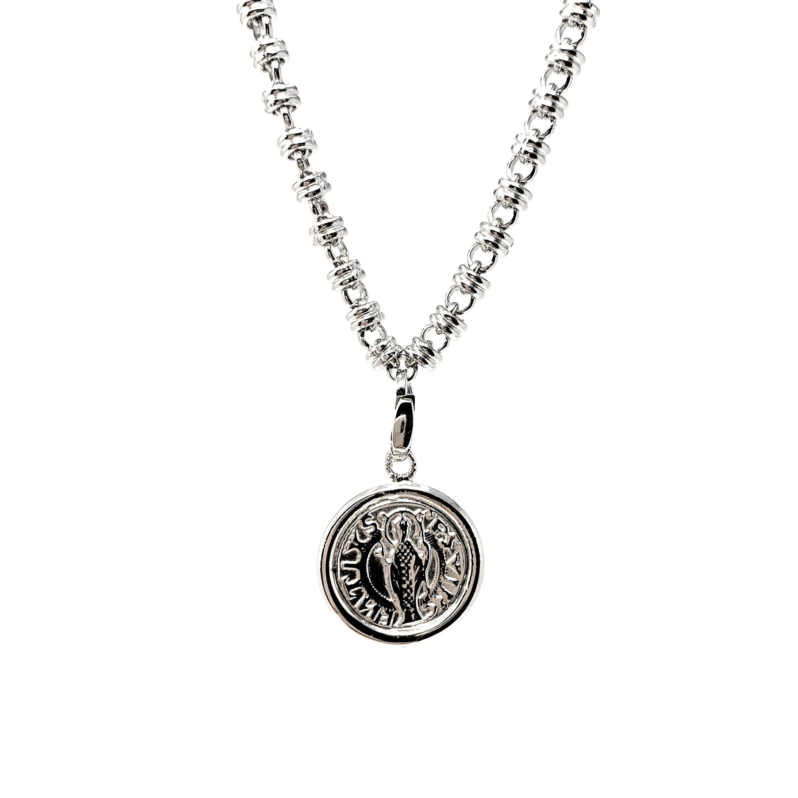 Charm Cortona Coin 17mm Rhodium