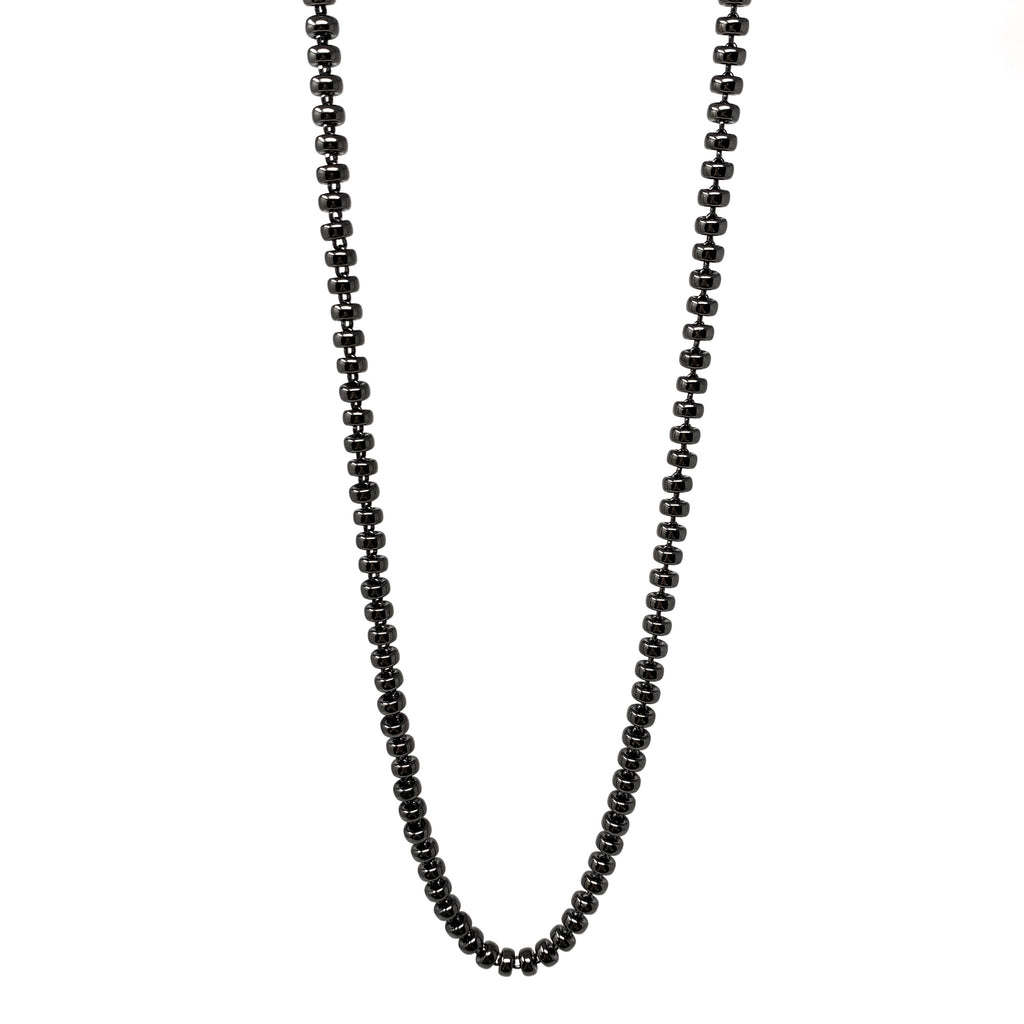Necklace Ciambelle 5mm C Black Rhodium
