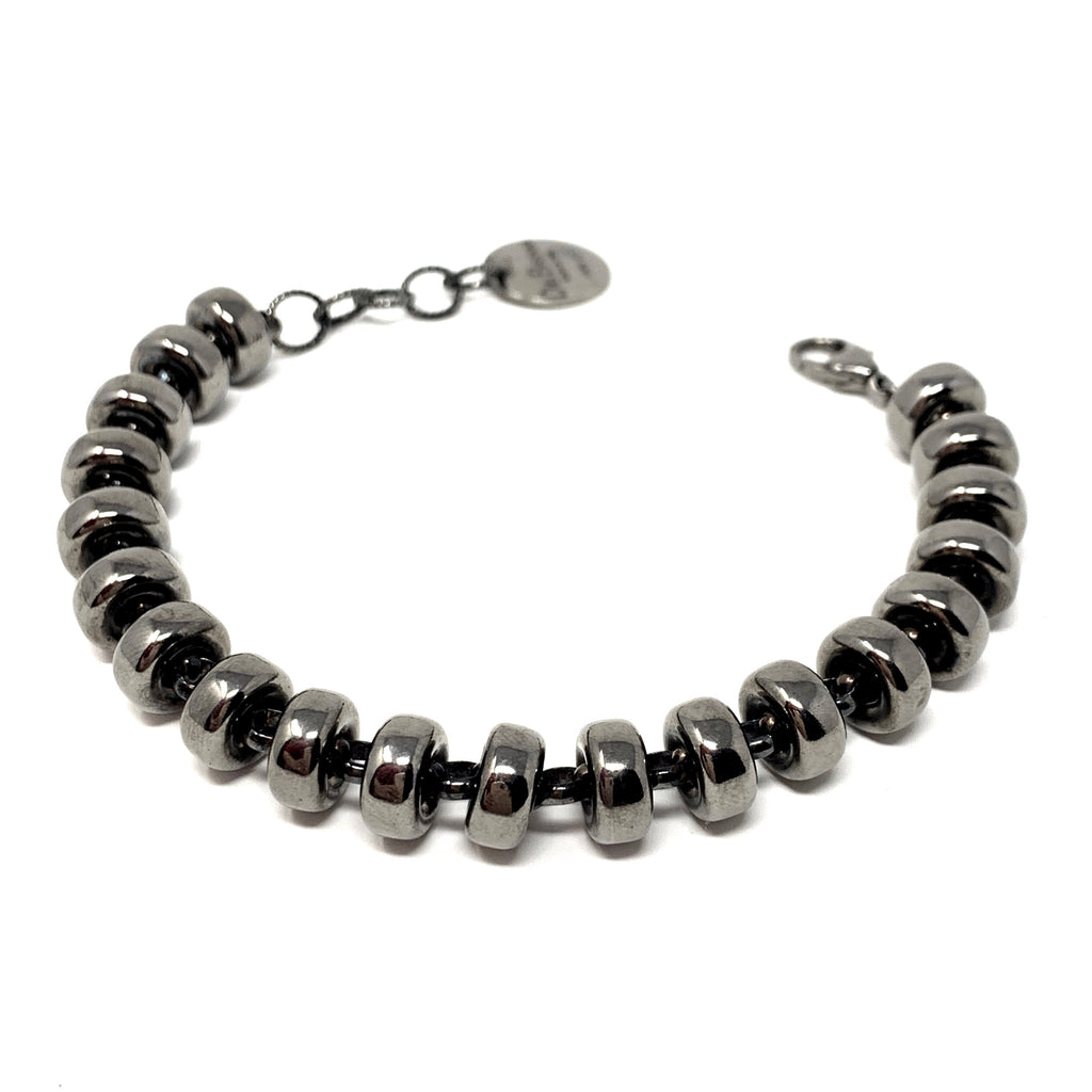 Bracelet Ciambelle 10mm Black Rhodium