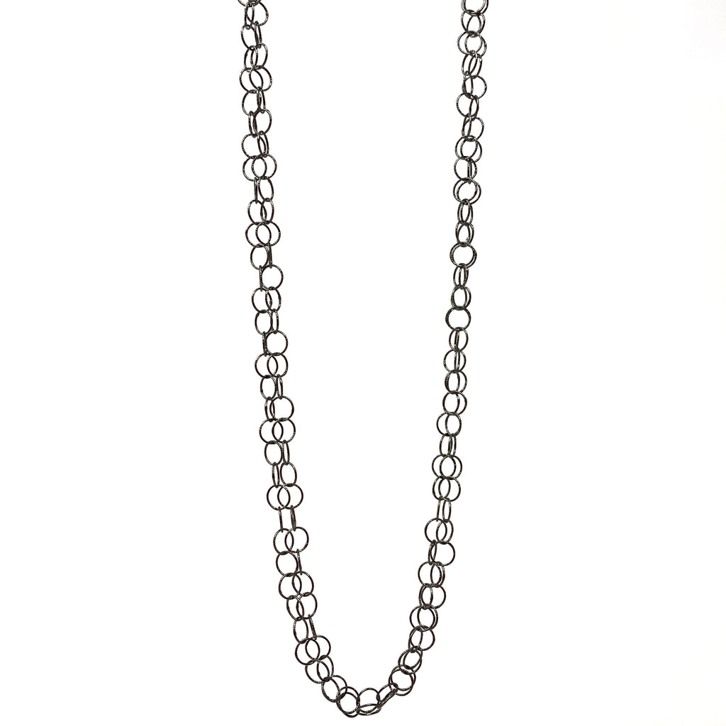 Necklace Giotto Double B Black Rhodium