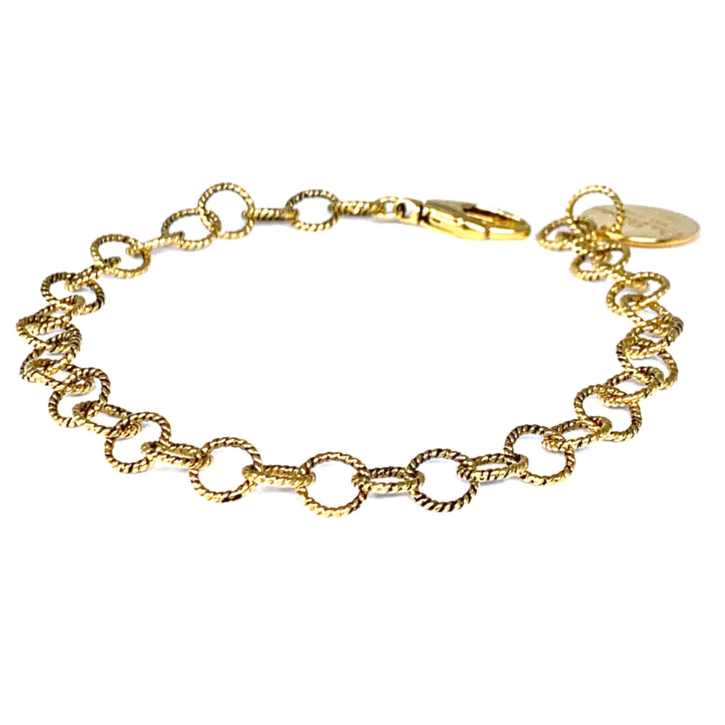 Bracelet Wispy 7mm Antique Gold