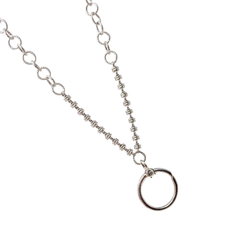 Wispy Full of Charm Necklace in Silver with Links 3mm, 22""