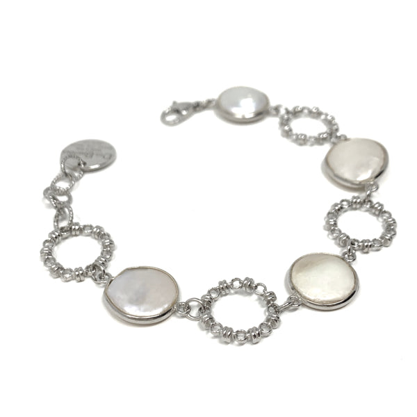 Bracelet Botticelli x4 Baroque Pearls x4 Rhodium