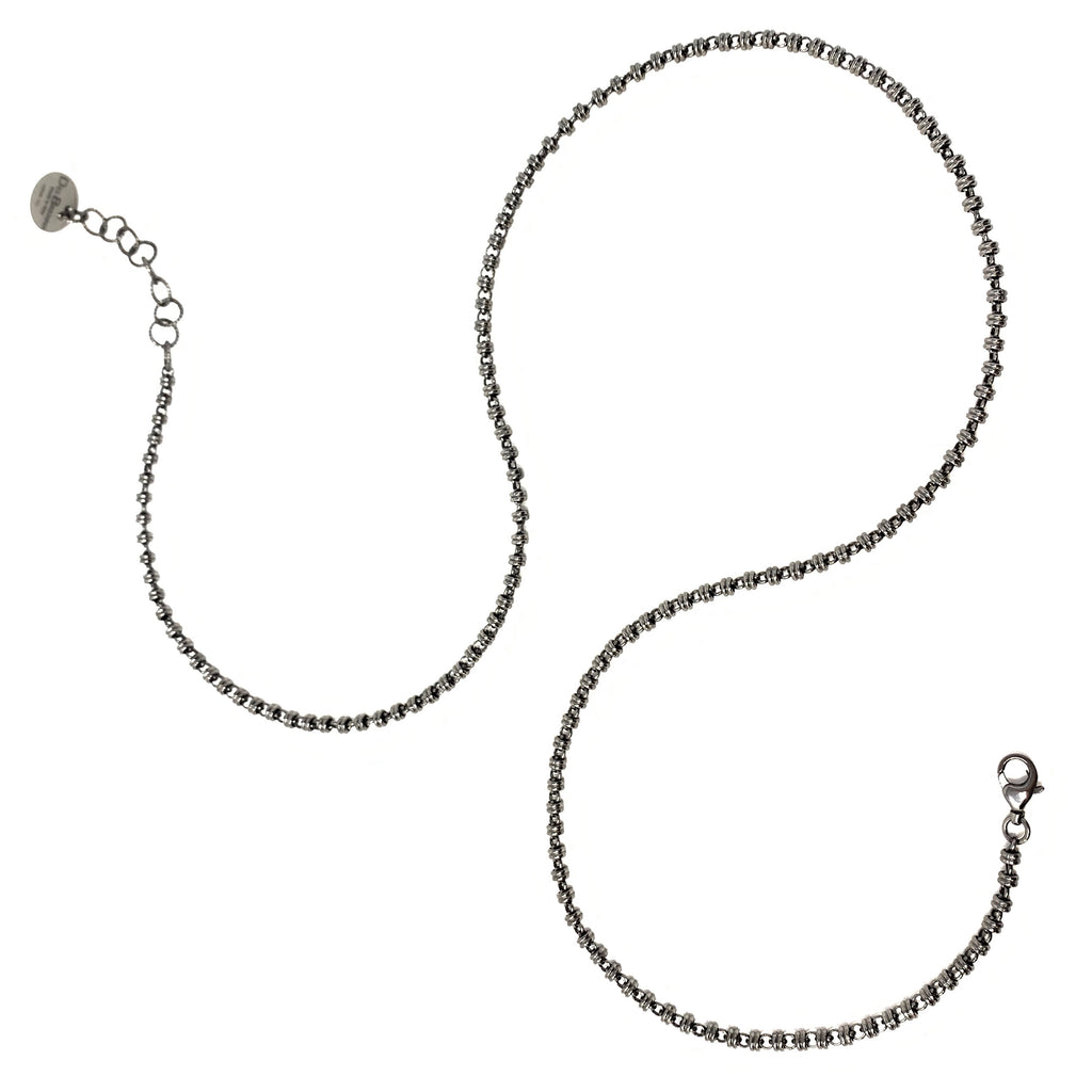 Links 3mm Necklace in Black, 29""