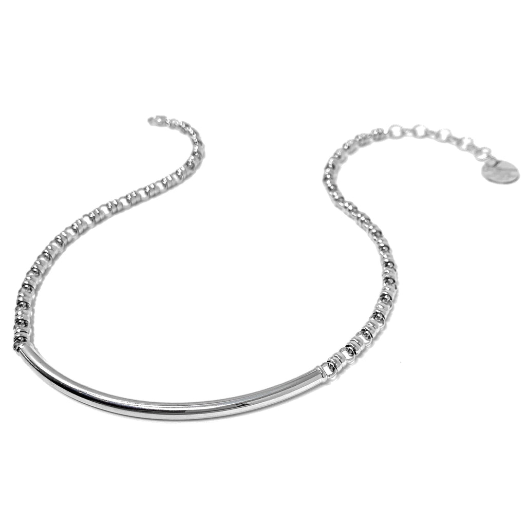 Smooth Bucatini 5mm Necklace in Silver
