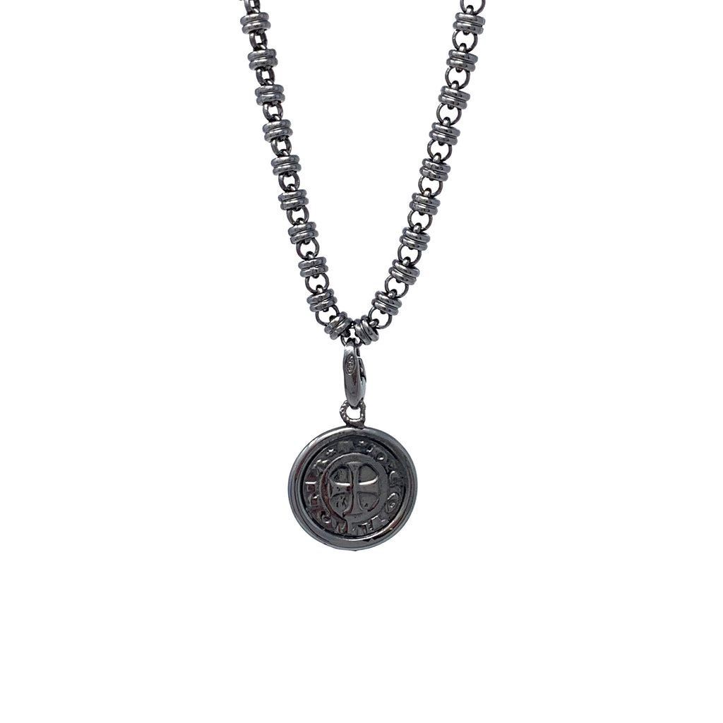 Charm Cortona Coin 17mm Ruthenium