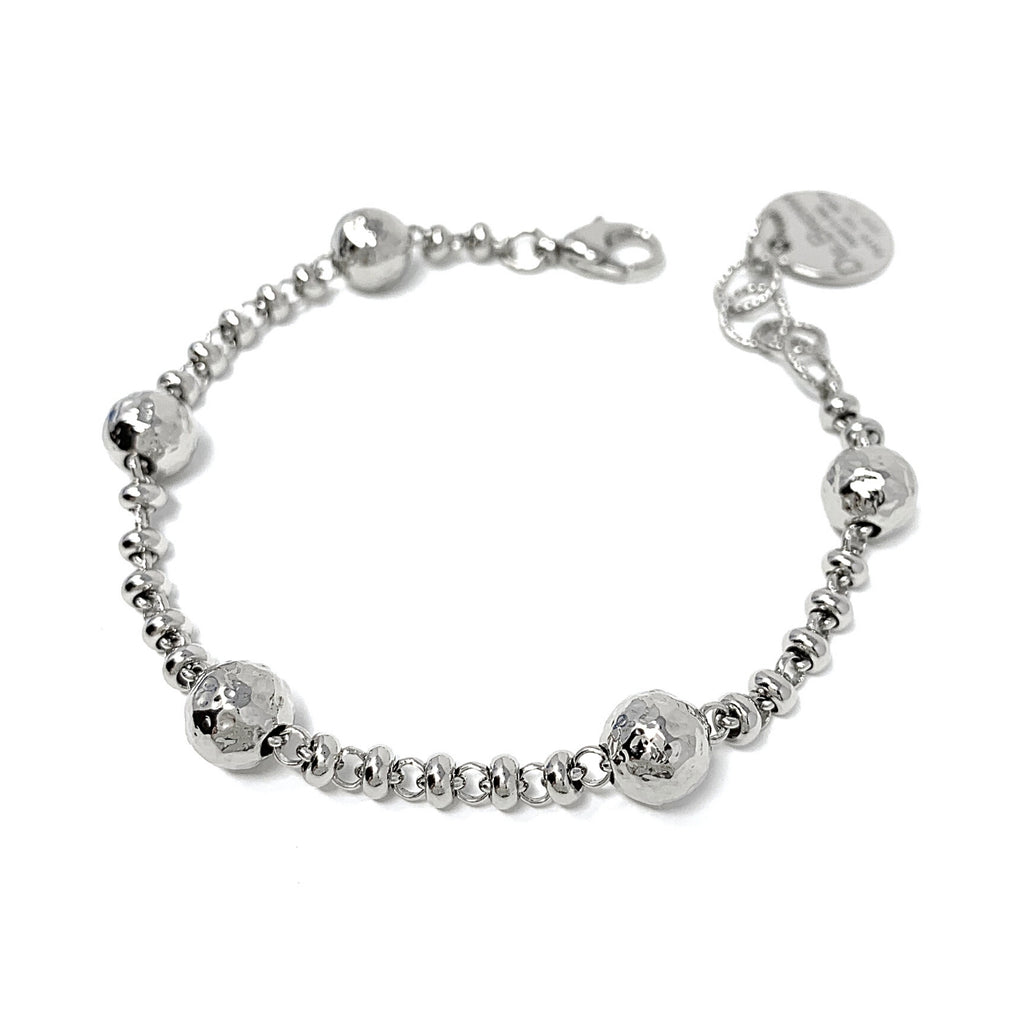 Bubbles Bracelet (Rhodium)