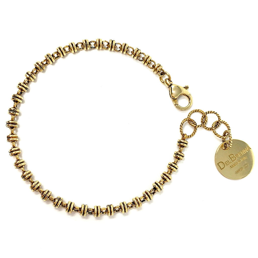 Links 3mm Bracelet (Antique Gold)