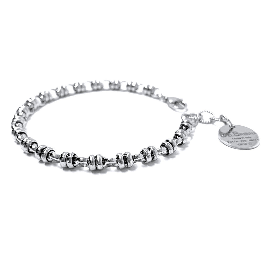 Links 5mm Bracelet (Rhodium)