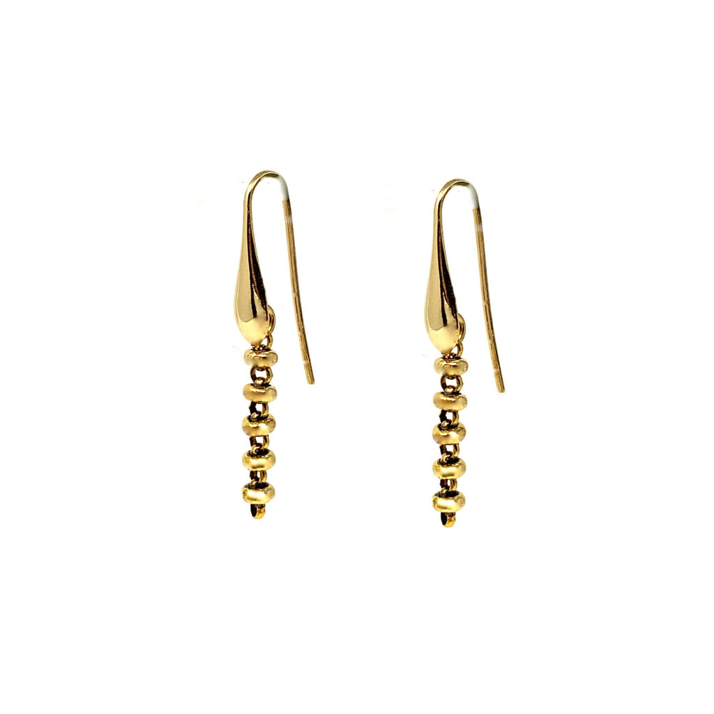Ciambelle 3mm Earrings in Gold, Long