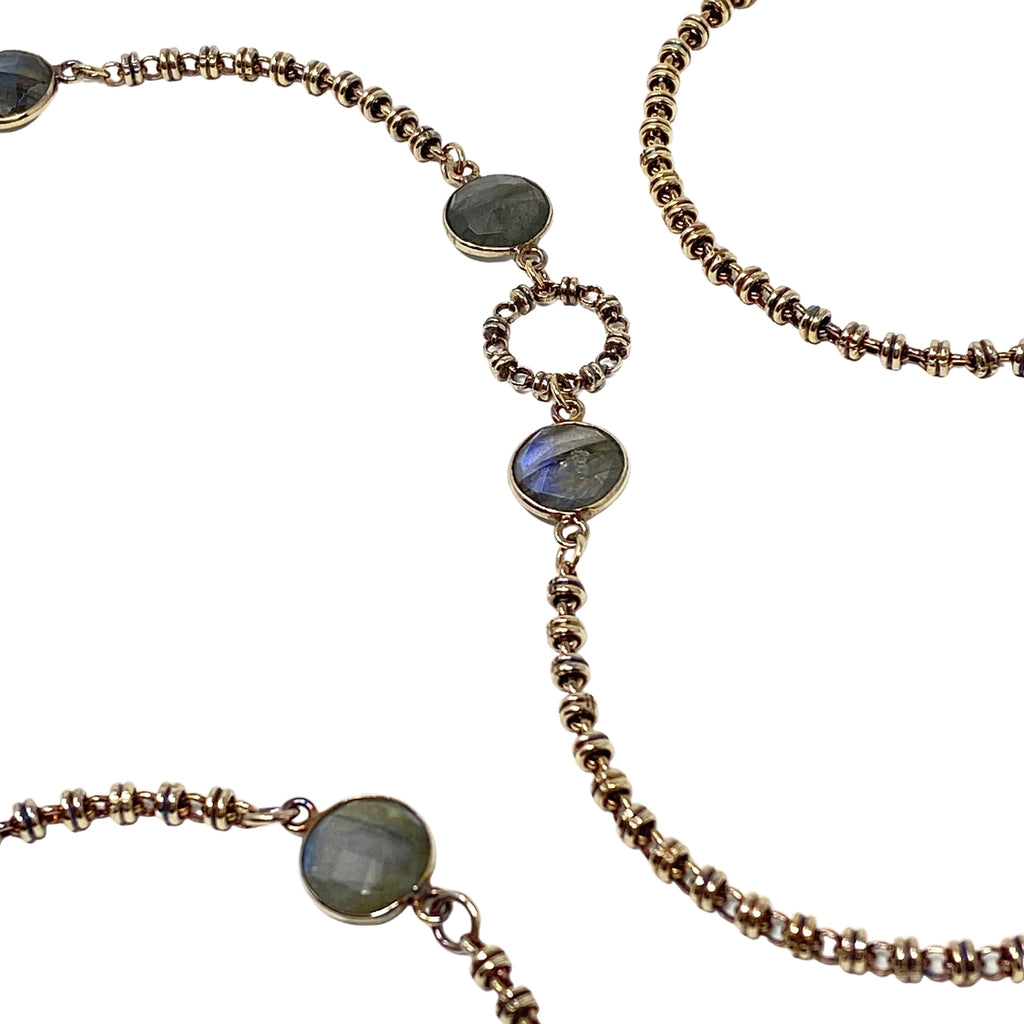 Necklace Botticelli Arte x4 Labradorite x8 C Antique Gold