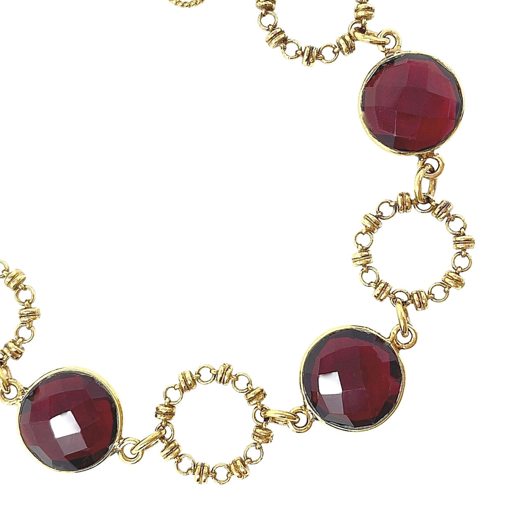 Botticelli Bracelet in Gold with Garnet