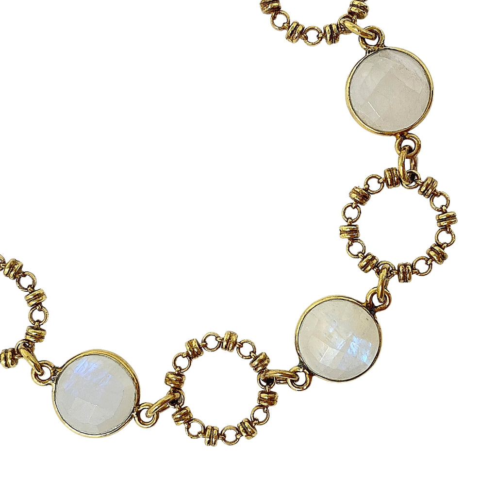 Bracelet Botticelli x4 Moonstone x4 Antique Gold