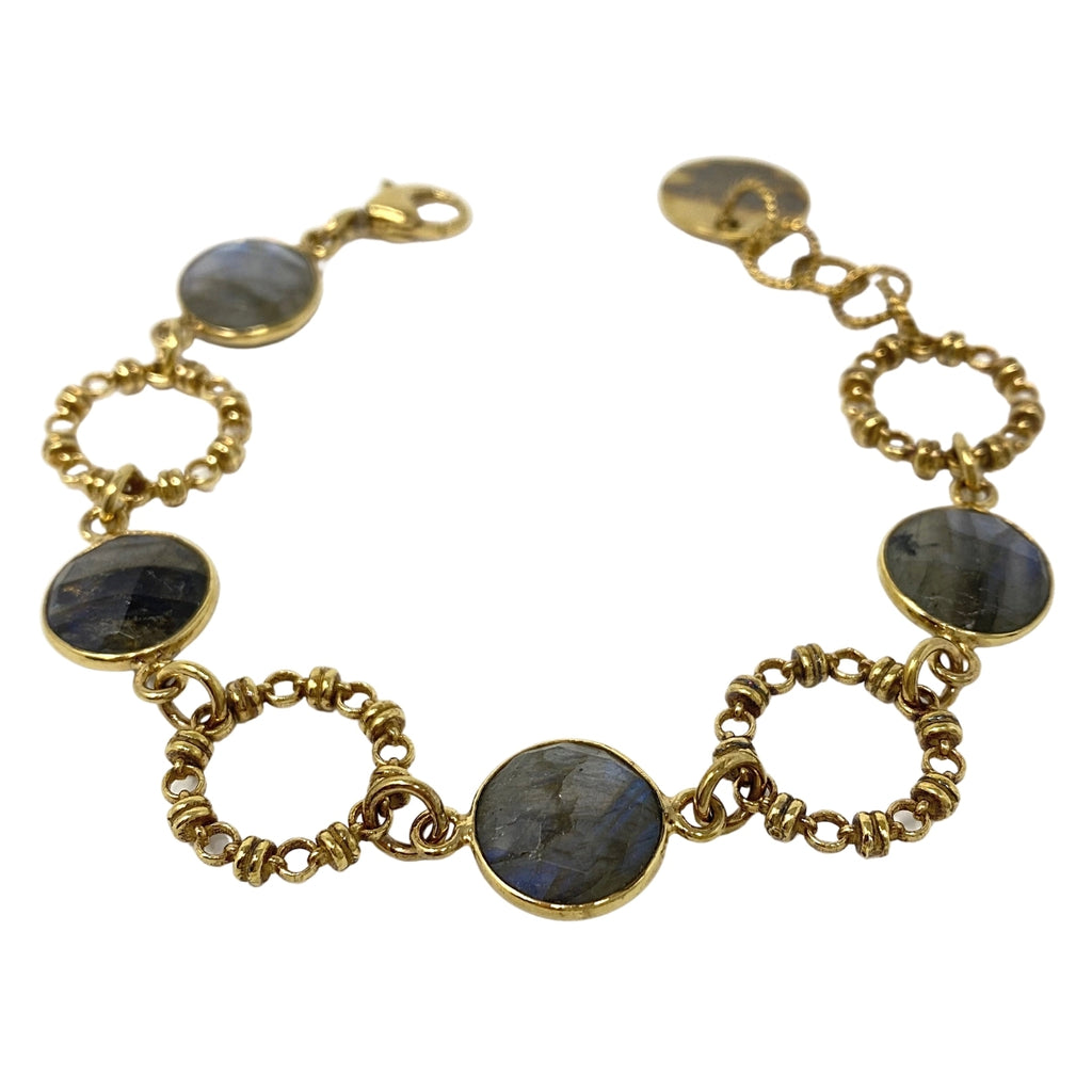 Bracelet Botticelli x4 Labradorite x4 Antique Gold