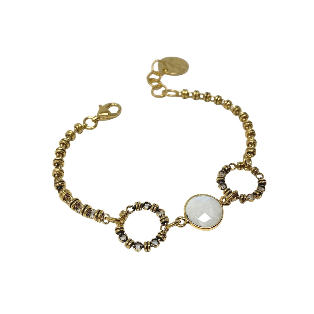 Bracelet Botticelli x2 Moonstone x1 Antique Gold