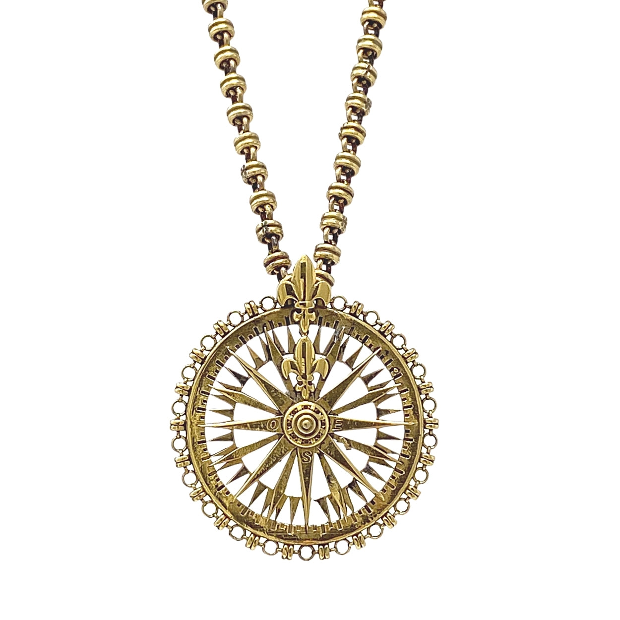 Guiding Compass Pendant in Gold