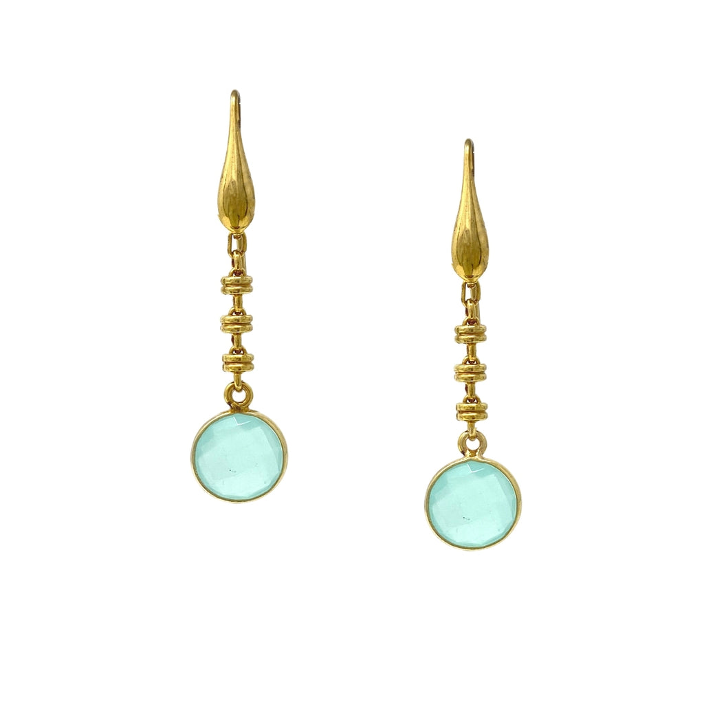 Chiara Earrings in Gold with Chalcedony