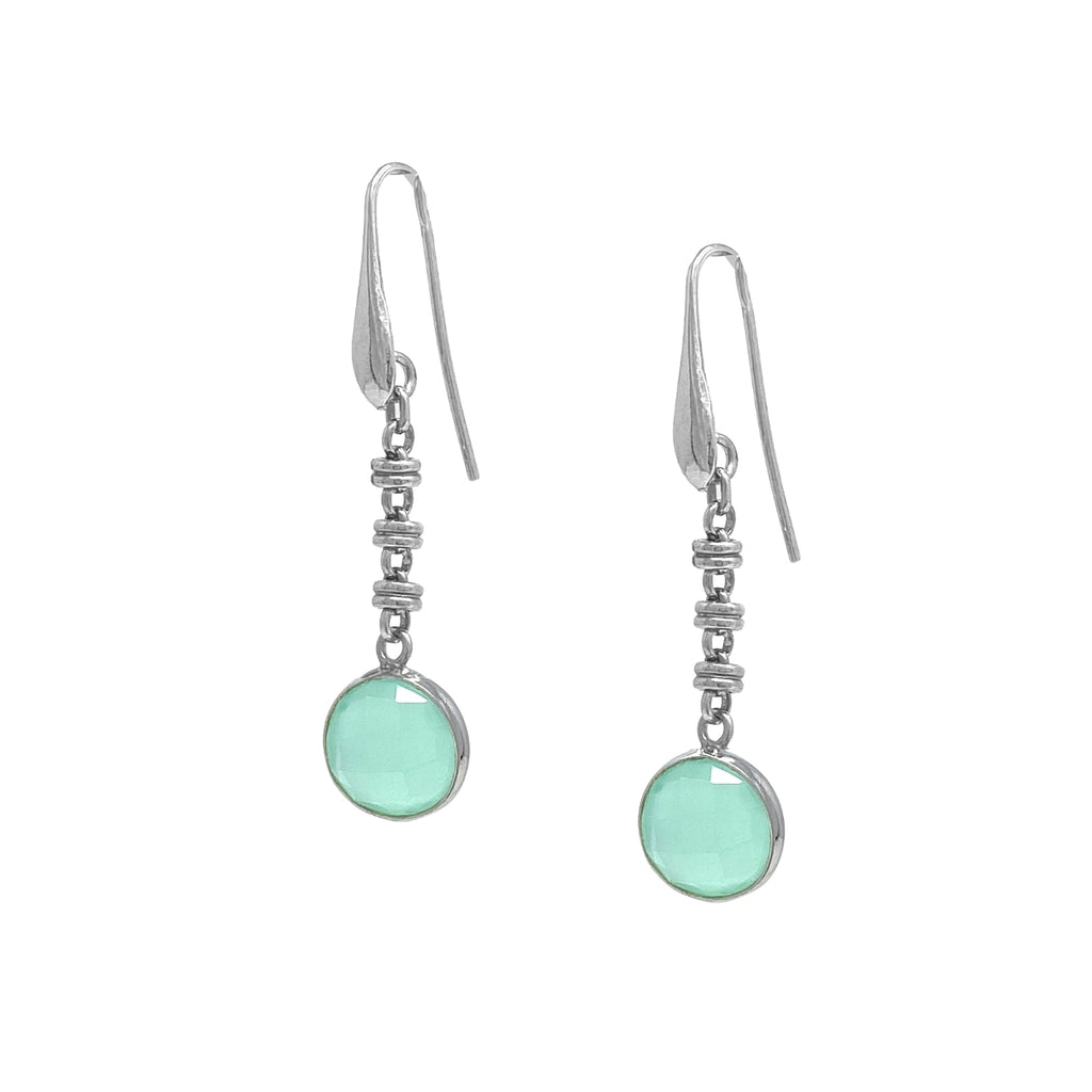 Earrings Chiara Chalcedony Rhodium