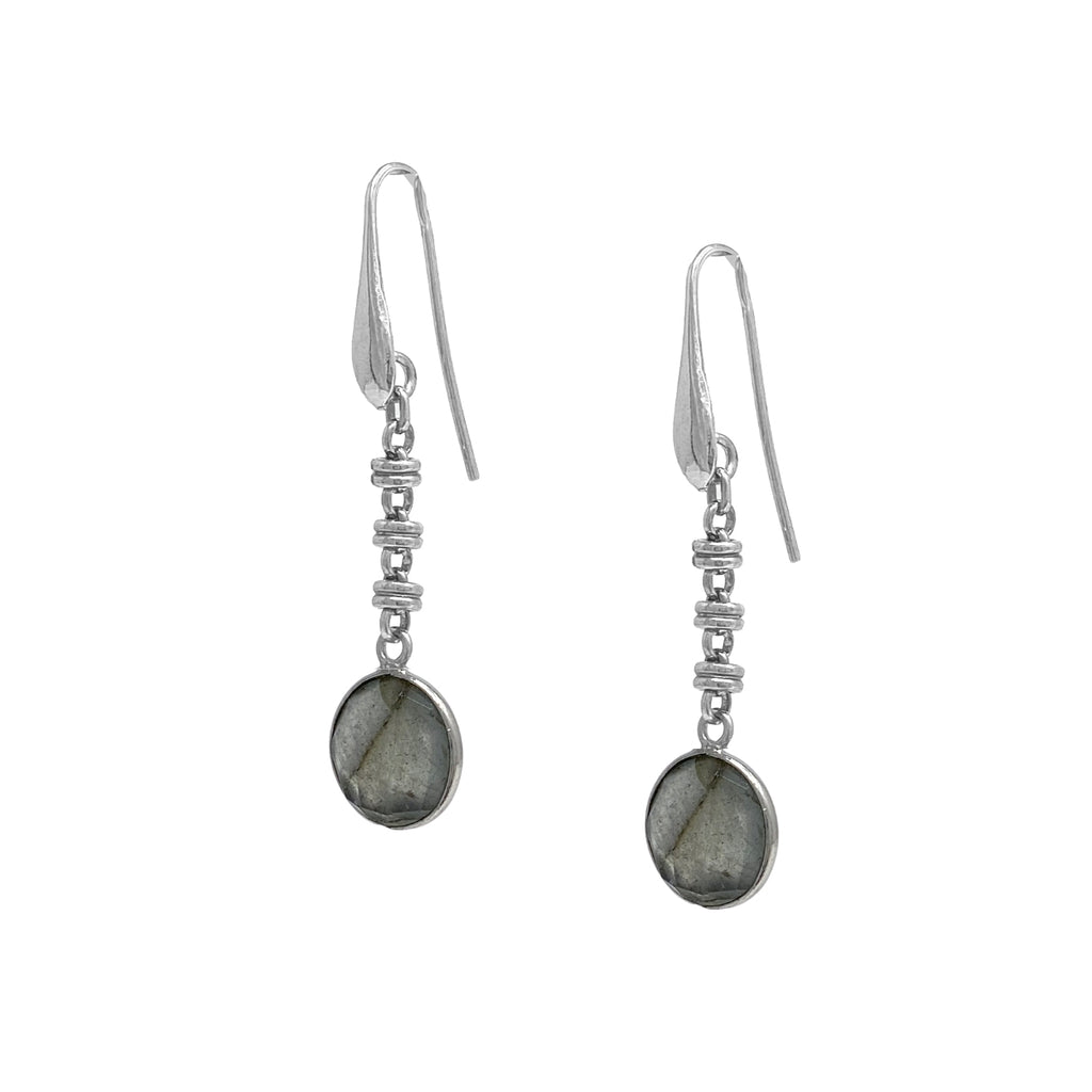 Earrings Chiara Labradorite Rhodium