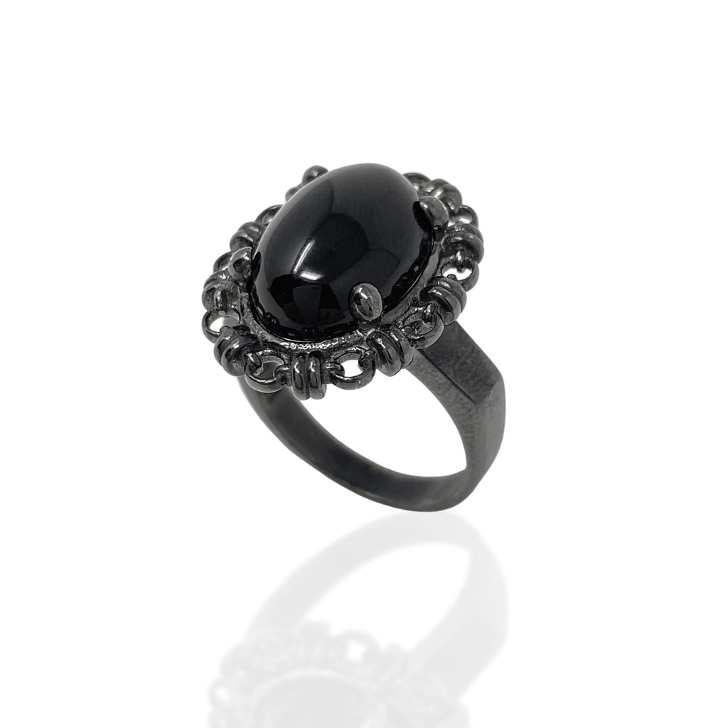 Aperitivo Ring in Black with Onyx