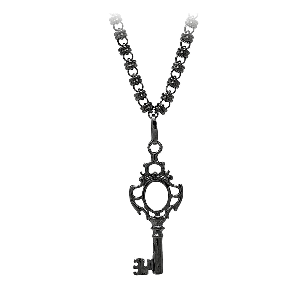 Charm Magic Window Key Black Rhodium