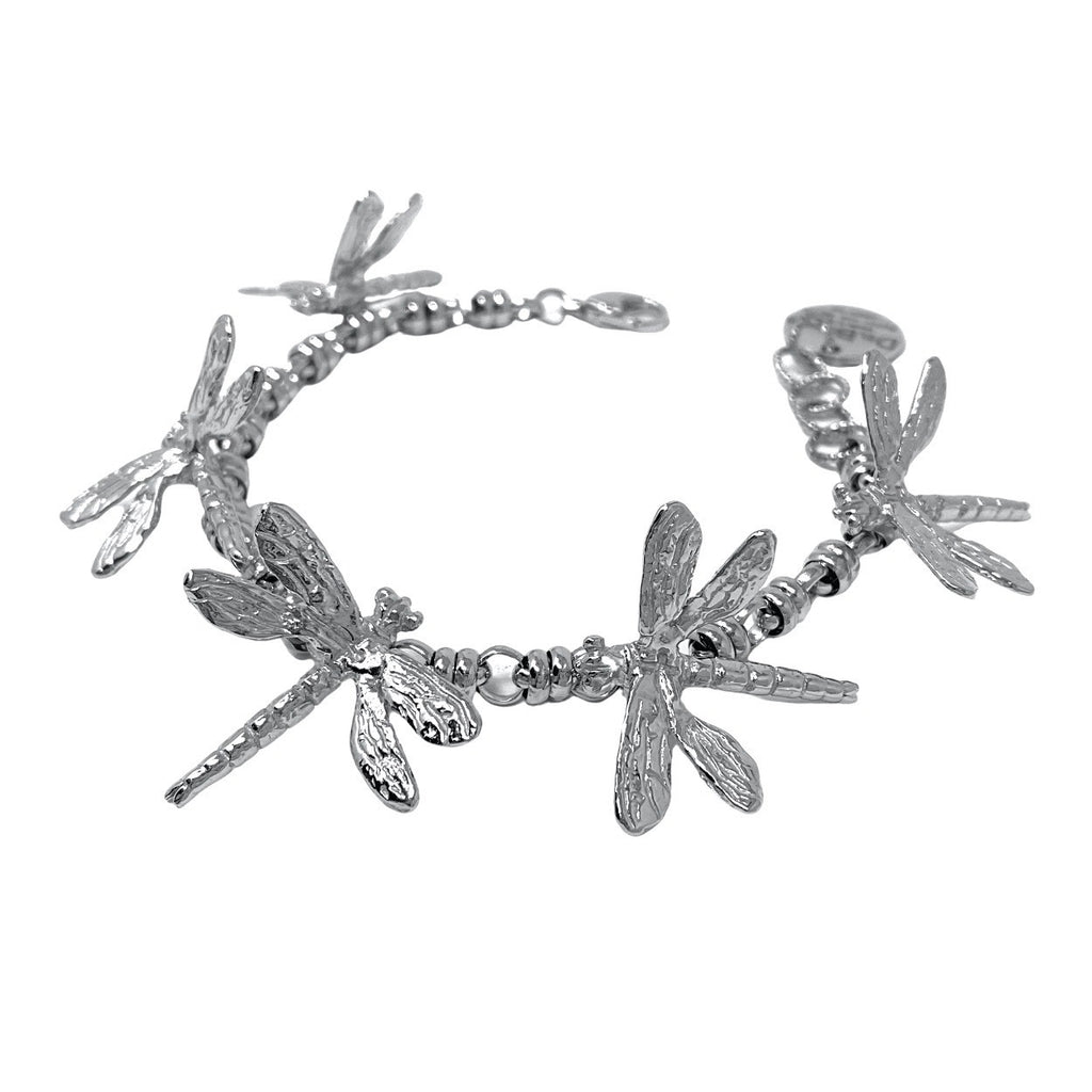 Dragonflies Bracelet in Silver with Links 5mm