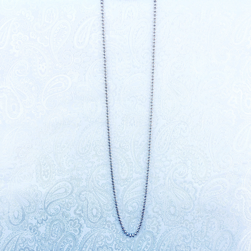Ciambelle 5mm Necklace in Silver, 36""