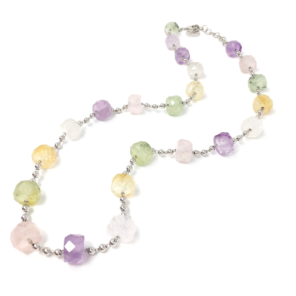Candies Necklace (C Opera Length - Rhodium)
