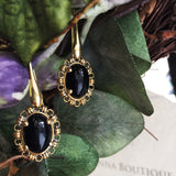 Onyx Aperitivo Earrings (Antique Gold)