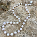 Freshwater Pearl Necklace (B Matinee - Rhodium)
