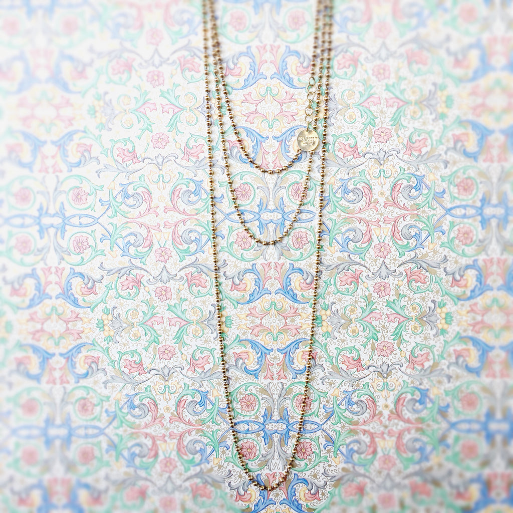 Beads 3mm Chain (C Opera Length - Antique Gold)