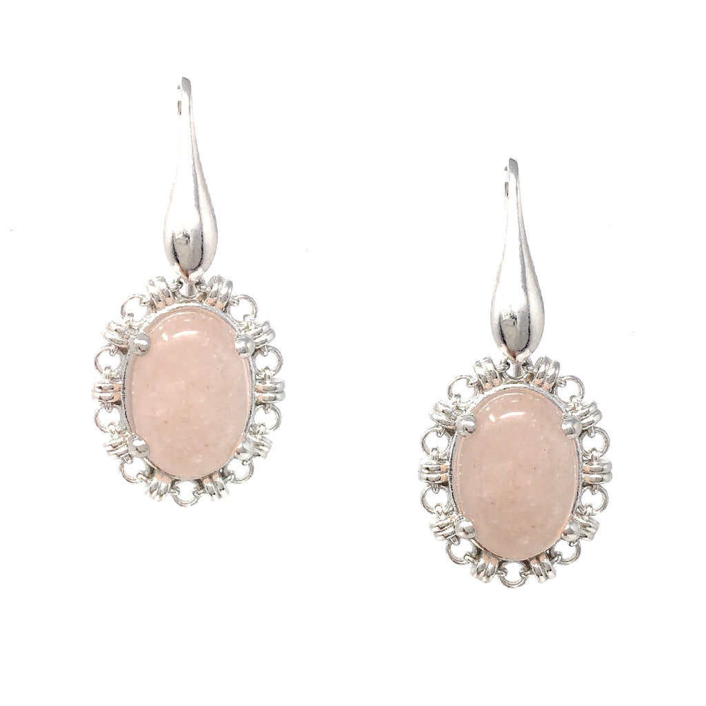Blush Morganite Aperitivo Earrings (Rhodium)