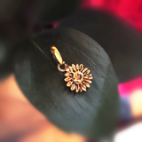 Small Sunflower Charm (Antique Gold)