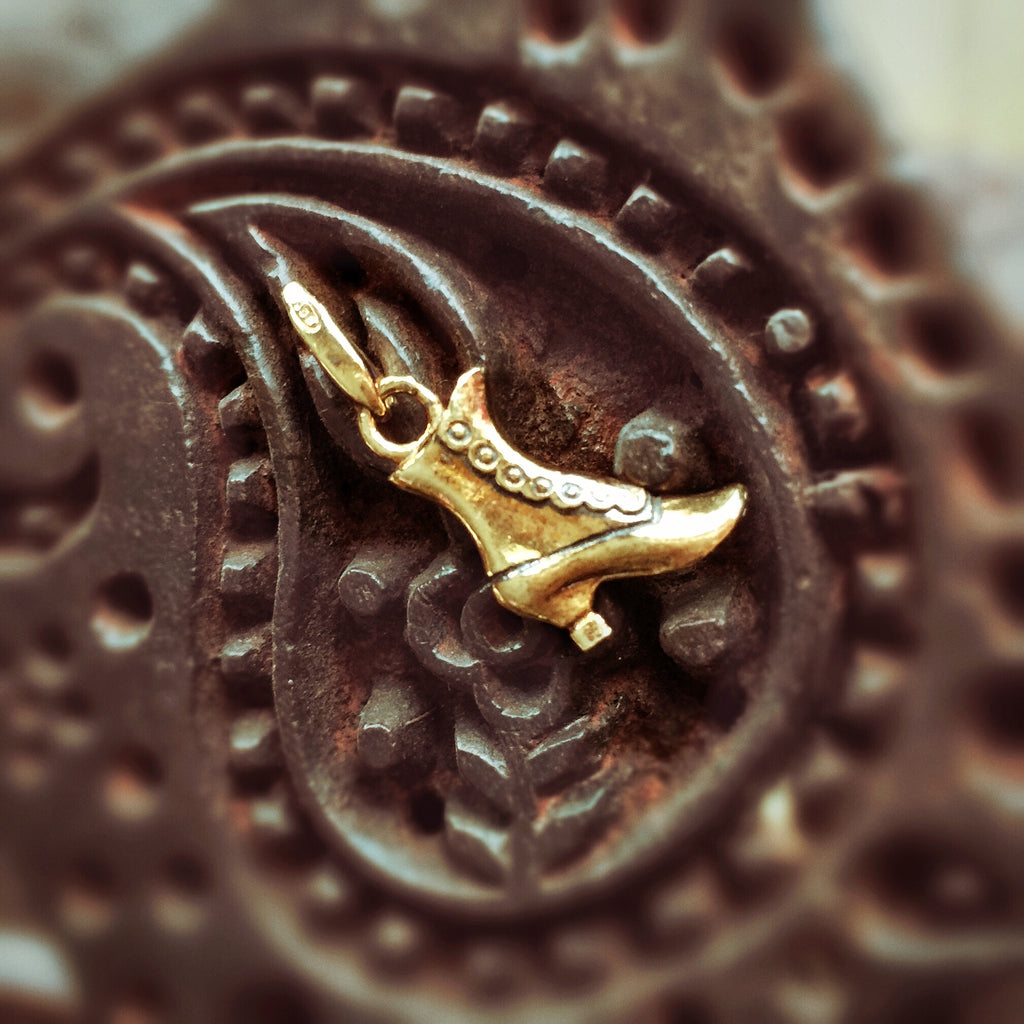 Italian Boot Charm (Antique Gold)