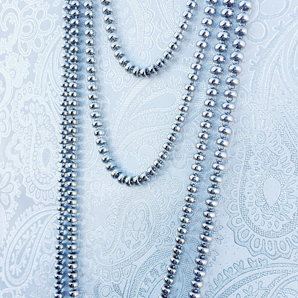 Ciambelle 3mm Chain (D Rope Length - Rhodium)