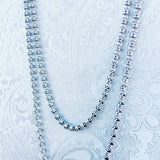 Links 3mm Chain (D Rope Length - Rhodium)
