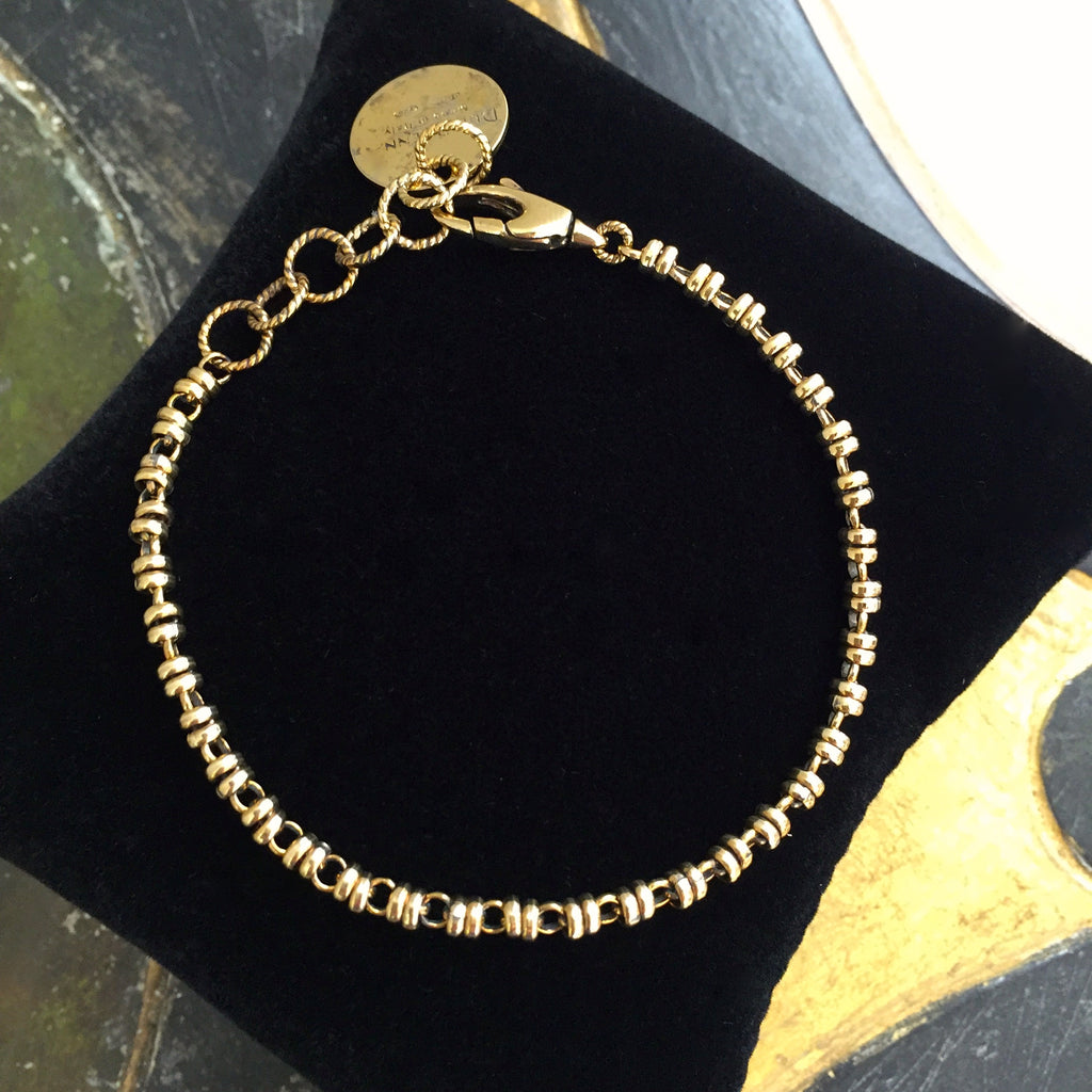 Links 3mm Bracelet - Antique Gold