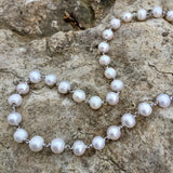 Freshwater Pearl Necklace A Rhodium