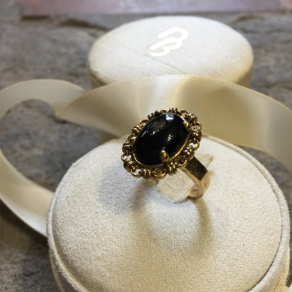 Onyx Aperitivo Ring (10x14mm - Antique Gold)