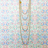 Cylinders 3mm Chain (A Princess Length - Antique Gold)