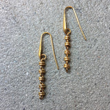 Links 3mm Dangles x5 Earrings (Antique Gold)