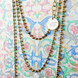 Beads 3mm Chain (B Matinee Length - Antique Gold)