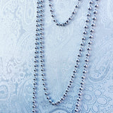 Beads 3mm Chain (B Matinee Length - Rhodium)