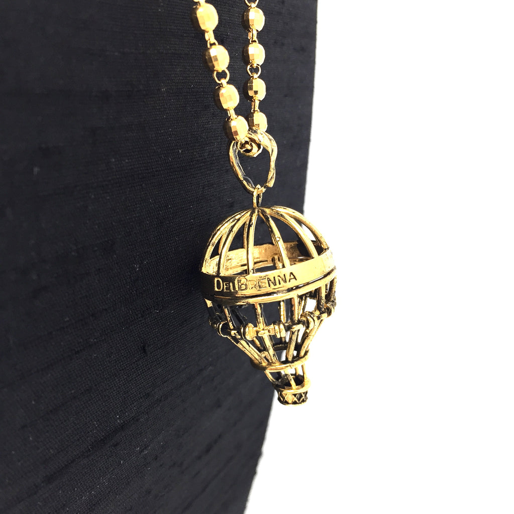 Hot Air Balloon Pendant (Antique Gold)
