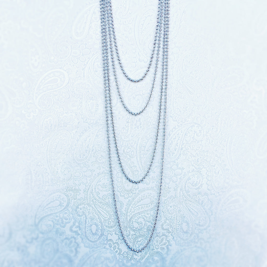 Links 3mm Necklace in Silver, 36""