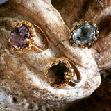Blue Topaz Aperitivo Ring (10x14mm Antique Gold)