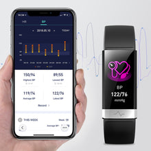Load image into Gallery viewer, 2019 New Blood Pressure Wrist Band Heart Rate Monitor Bracelet ECG PPG HRV Smart Watch with Electrocardiogram Display Wristband
