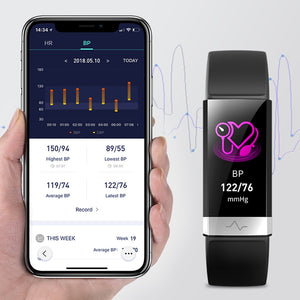 2019 New Blood Pressure Wrist Band Heart Rate Monitor Bracelet ECG PPG HRV Smart Watch with Electrocardiogram Display Wristband