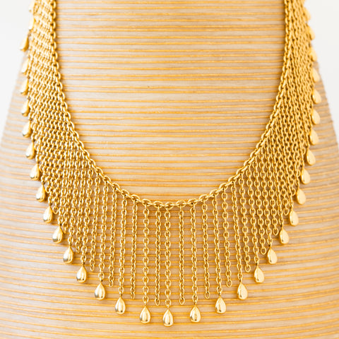 VAN CLEEF & ARPELS 18K YELLOW GOLD FRINGE NECKLACE c.1980s
