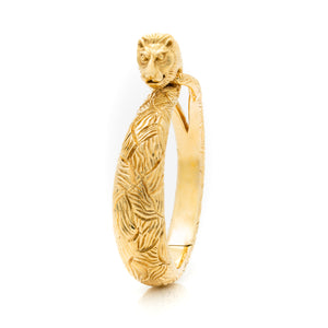 CARTIER 18K YELLOW GOLD LION BANGLE c.1960s